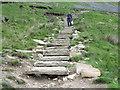 SD7379 : Paved path descending from Whernside by Trevor Littlewood