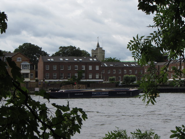 Thames-side buildings at Chiswick