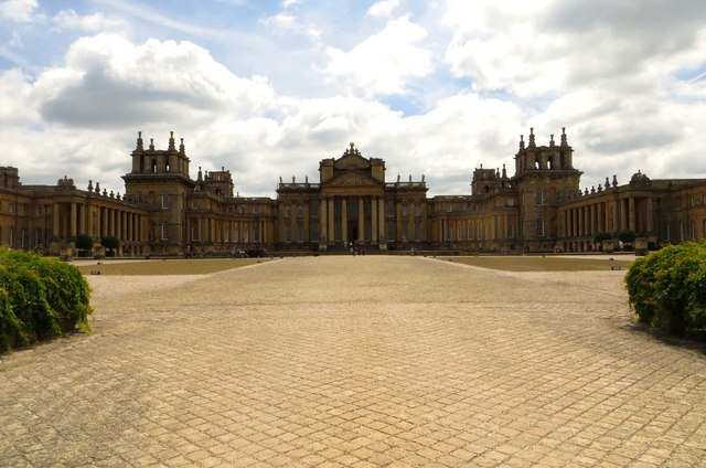 Blenheim Palace looking across the Great Court