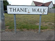 TM0321 : Thanet Walk sign (South) by Hamish Griffin
