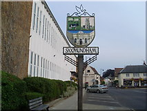 TM3863 : Town Sign, Saxmundham by David Hillas