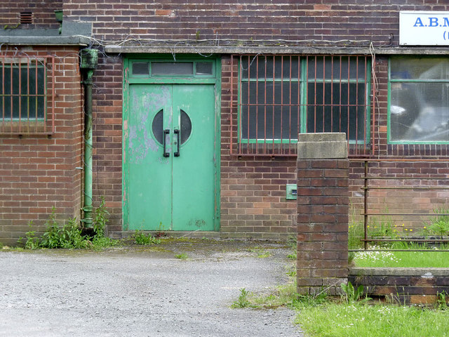 Detail of pithead baths building, Ansley Hall Colliery