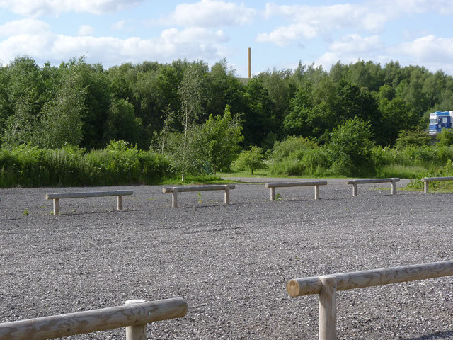 Car park at Pooley Country Park
