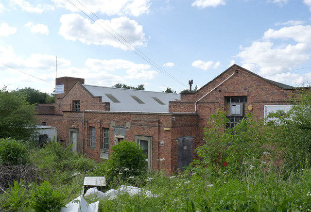 Former colliery buildings at Pooley Park