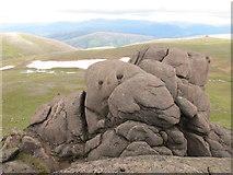 NJ1301 : Granite Rocks of Leabaidh an Daimh Bhuidhe by Alan Hodgson