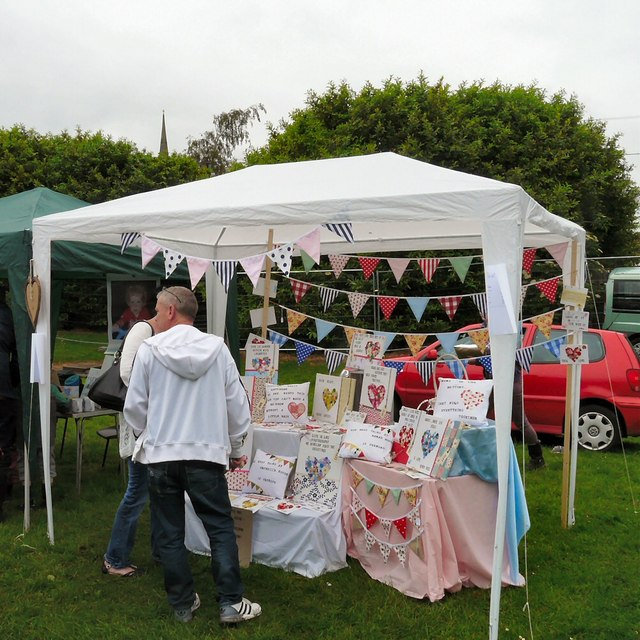 Craft stall at Gee Cross Fete 2014