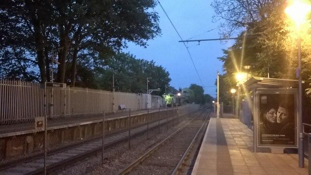 Late evening, Birkbeck tram stop