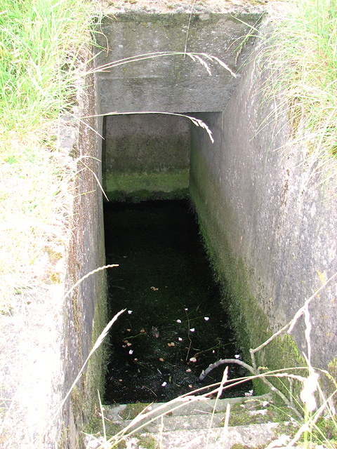 Flooded WW2 air raid shelter
