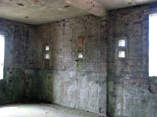 Inside the old control tower