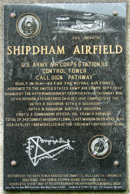 44th Bomb Group memorial at Shipdham