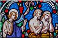 TQ7218 : Detail, Stained glass window, St John's church by Julian P Guffogg