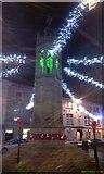 SX3384 : Launceston Memorial Christmas Lights by Paul Loft