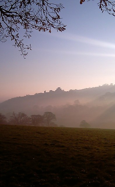 Launceston Castle in the mist 2