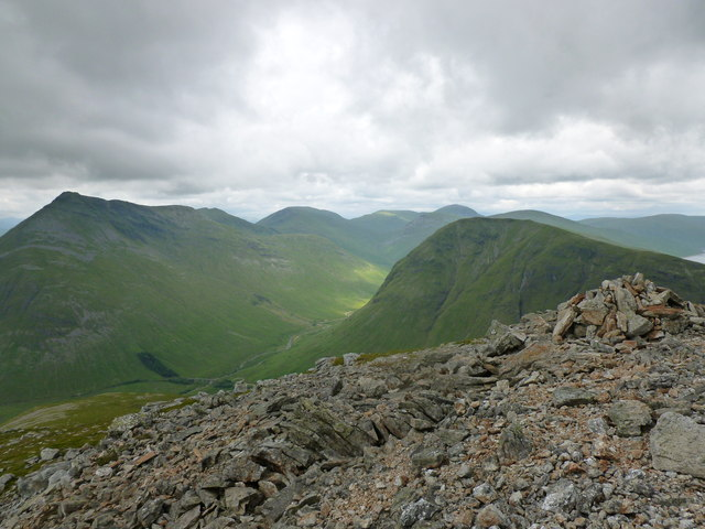 Looking into Auch Glen from Beinn Odhar