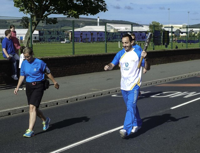 Queen's Baton Holder in Stranraer