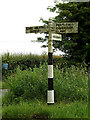 TL8344 : Roadsign on the B1064 The Street by Adrian Cable