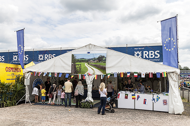 European Commission stall at the Royal Highland Show