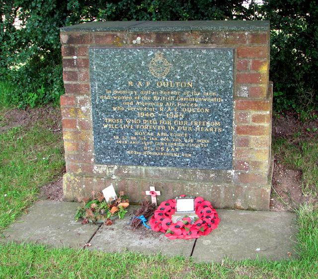 RAF memorial in Oulton Street