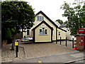 TL8344 : Foxearth Village Hall & Foxearth George V Postbox by Adrian Cable
