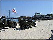 SY6879 : US Army on Weymouth Beach by Alex McGregor