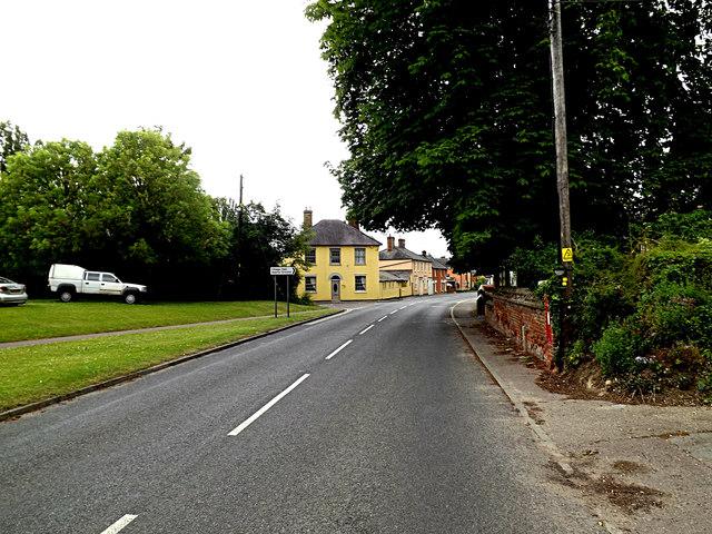 A1092 Melford Road & Cavendish Station Edward VII Postbox
