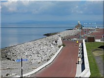 SD4264 : The Stone Jetty Morecambe from The Midland Hotel by Steve  Fareham