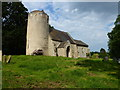 TF8417 : Church with round tower, West Lexham, Norfolk by Richard Humphrey