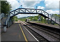 ST0381 : Railway station footbridge, Pontyclun by Jaggery