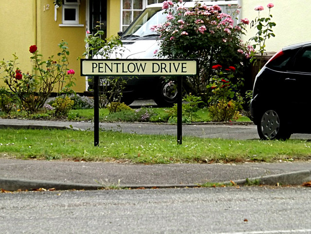 Pentlow Drive sign