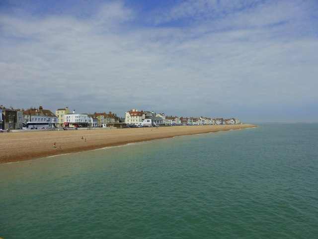 View from the north side of the pier, Deal