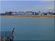 TR3752 : Fishing from the pier, Deal by pam fray