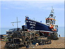 TR3752 : A fishing boat at Deal by pam fray