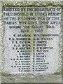 TM2677 : Roll of Honour by Keith Evans