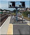 SY6779 : Twin signals at Weymouth railway station by Jaggery