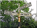 NY4538 : Old Cumberland County Council signpost by Rose and Trev Clough