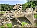SE4498 : Sculptured Monk, Mount Grace Priory by David Dixon