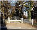SO3148 : Wide white gates, Eardisley by Jaggery