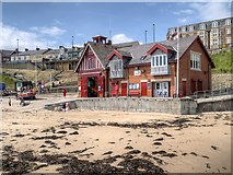 NZ3671 : The Lifeboat Station, Cullercoats Bay by David Dixon