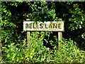 TL8348 : Bells Lane sign by Adrian Cable