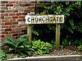 TL8348 : Churchgate sign by Geographer