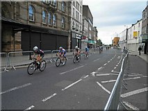 SE3406 : Ladies elite racing on Eldon Street Barnsley by Steve  Fareham