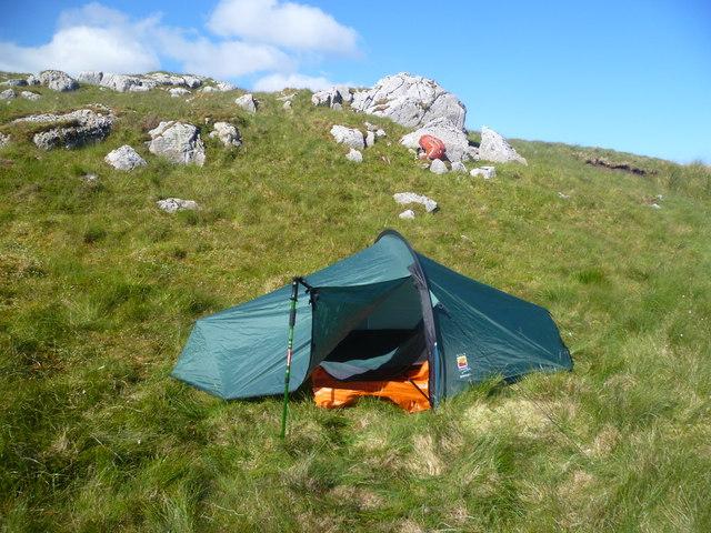 Tent on Glasgwm
