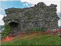 SN7634 : Remains of Castle, Llandovery, Carmarthenshire by Christine Matthews