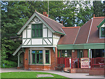 SK3770 : Chesterfield - Queen's Park - North Lodge and Cafe by Dave Bevis