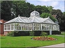 SK3770 : Chesterfield - Queen's Park - Conservatory by Dave Bevis