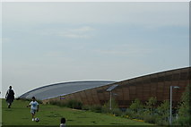 TQ3785 : View of the Velodrome from Queen Elizabeth Olympic Park #5 by Robert Lamb