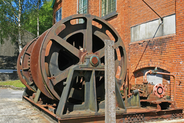 Cefn Coed Colliery Museum - steam capstan