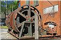 SN7803 : Cefn Coed Colliery Museum - steam capstan by Chris Allen