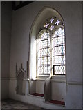 TL9925 : St. Martin's Church, West Stockwell Street, CO1 - sanctuary piscina and sedilia by Mike Quinn