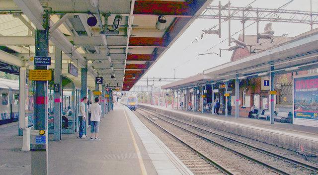 Upminster Station, eastward on Platform 2